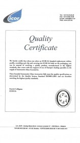 Icor Quality Certificate