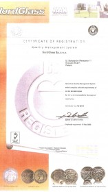 NordGlass Quality Certificate